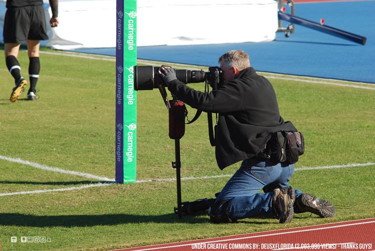 Fotógrafo en pleno trabajo