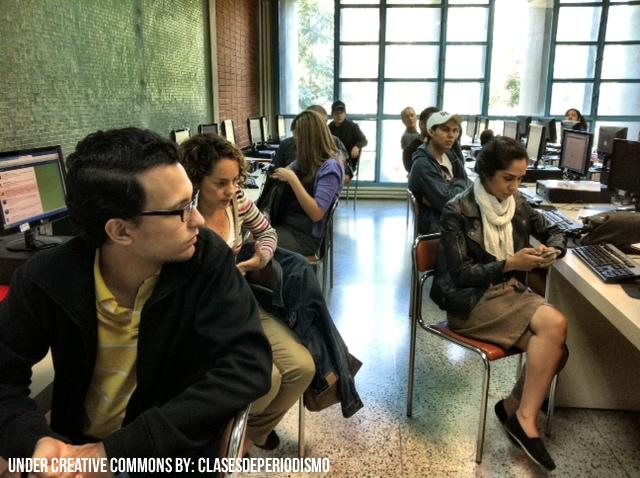 Estudiantes de periodismo en Venezuela